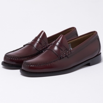 Bass Weejun Larson Burgundy Loafer Shoe