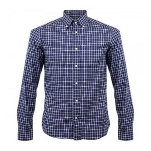 BD Baggies Dexter Check Navy Shirt B25005