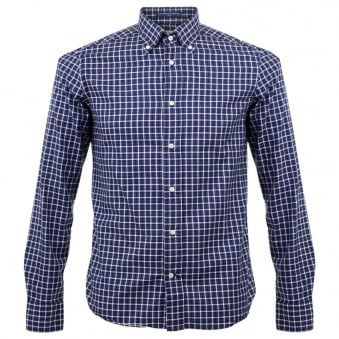 BD Baggies Dexter Check Navy Shirt B25005