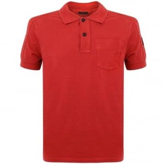 Belstaff Borman Racing Red Polo Shirt 71140115
