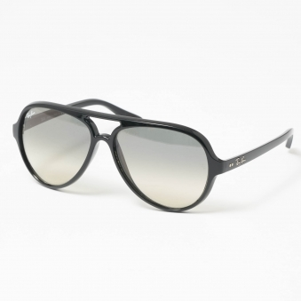 Black Cats 5000 Classic Sunglasses - Light Grey Gradient Lenses