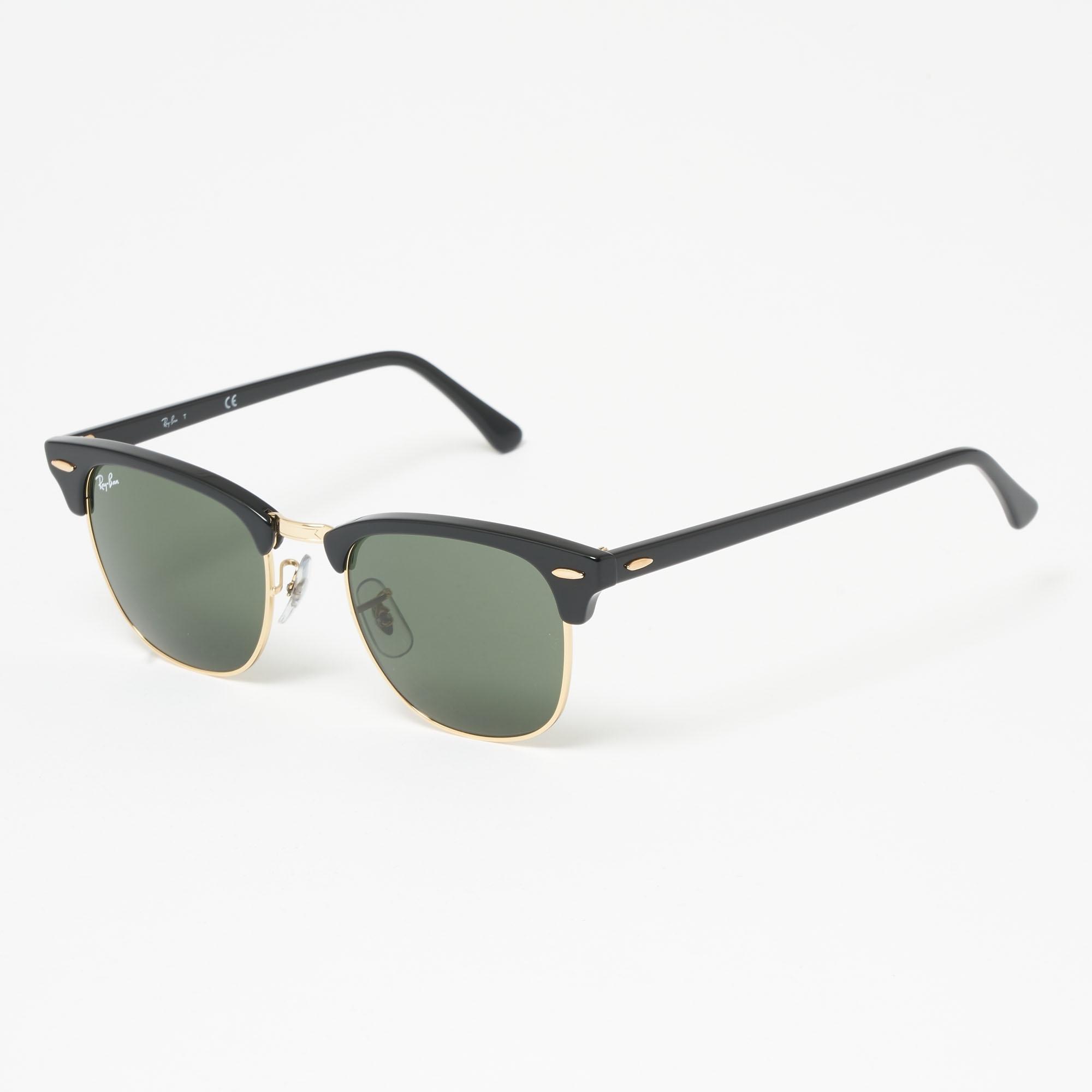 e1784bd23d Black Clubround Classic Sunglasses - Green Classic G-15 Lenses