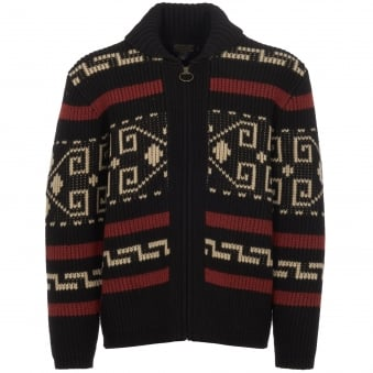 Black & Cream Westerley Cardigan Jumper