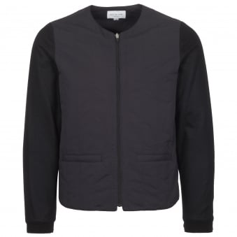 Black Crew Neck Blouson Jacket