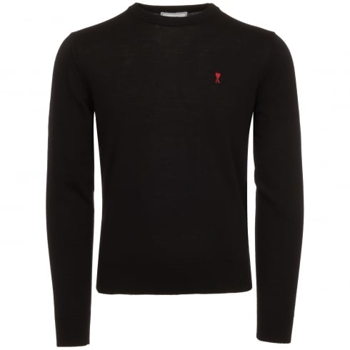 AMI Black De Coeur Jumper
