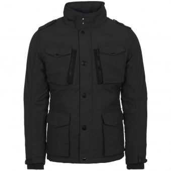 Black Field Parka Jacket