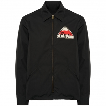 Black Fuji Athletic Grounds Crew Jacket