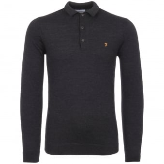 Black Maidwell Knitted Polo Shirt
