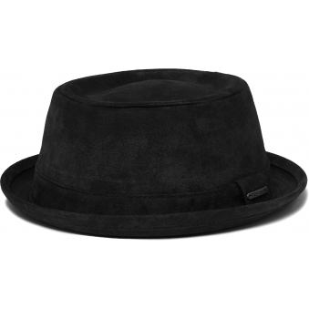 Black Odenton Pork Pie Cloth Hat
