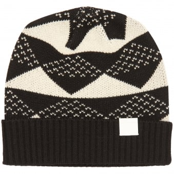 Black Triangle Jacquard Knitted Beanie