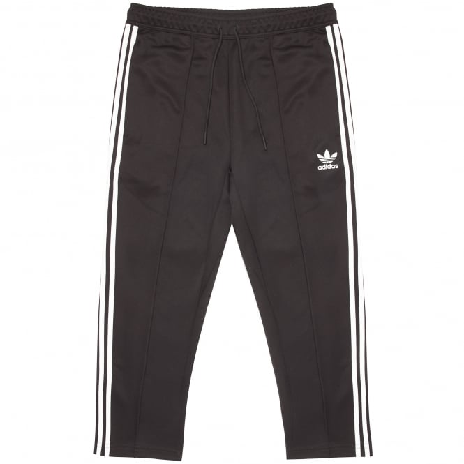 Adidas Originals Black & White SST Relaxed Cropped Track Pants