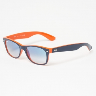 Blue & Orange New Wayfarer Colour Mix - Light Blue Gradient Lenses