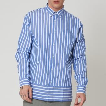 Blue & White Summer Fit Shirt