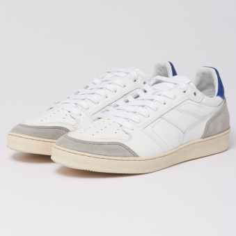 Blue White Thin Low Trainers