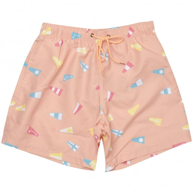 Boardies® Nautical Flag Pink Swim Shorts BS103M
