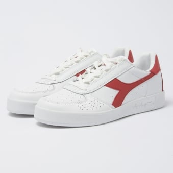 Diadora Borg Elite White & Ferrari Red C0823