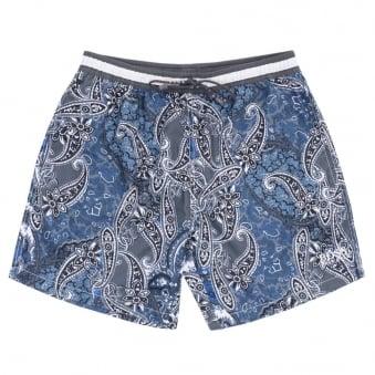 Boss Black Boxfish Open Grey Shorts 50291474