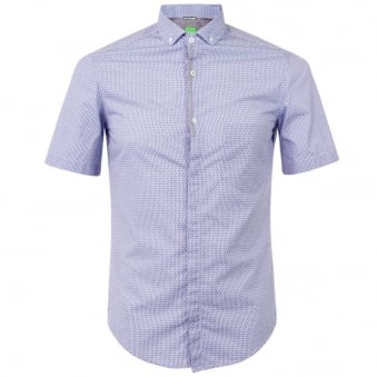 Boss Green Balala Open Blue Shirt 50282846