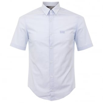 Boss Green C-Busterino Sky Blue Short Sleeve Shirt 503130