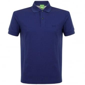 Boss Green C-Firenze Logo Open Blue Pique Polo Shirt 50292333