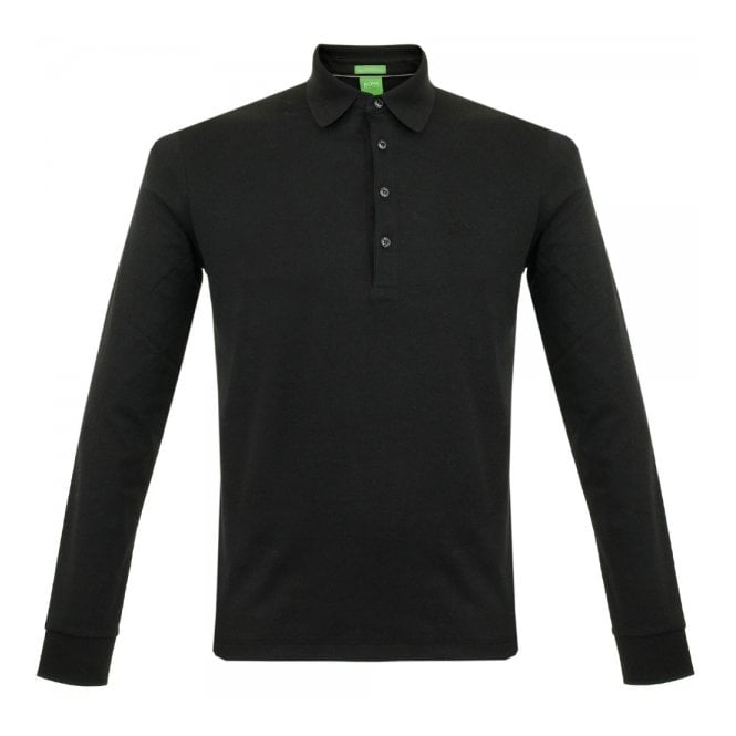Boss Green C-Paderna 30 Black LS Polo Shirt 50292014