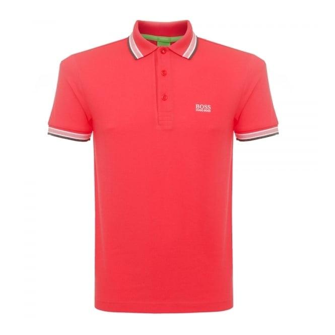 Boss Green Dark Red Paddy Polo Shirt 5032557