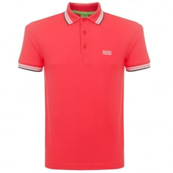 Boss Green Dark Red Paddy Polo Shirt 5032557