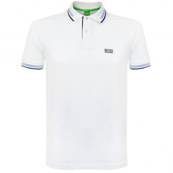 Boss Green Paul White Polo Shirt 50332503