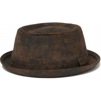 Brown Odenton Pork Pie Cloth Hat