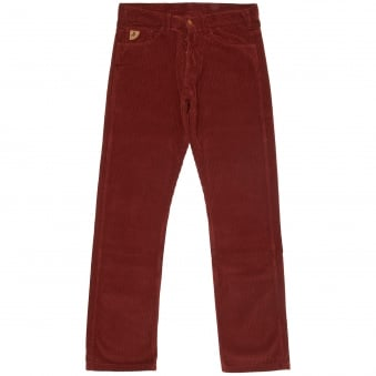 Burgundy Dallas Jumbo Cord Trousers