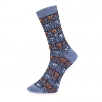 Burlington Fashion Blue Triangle Socks 20521 6662