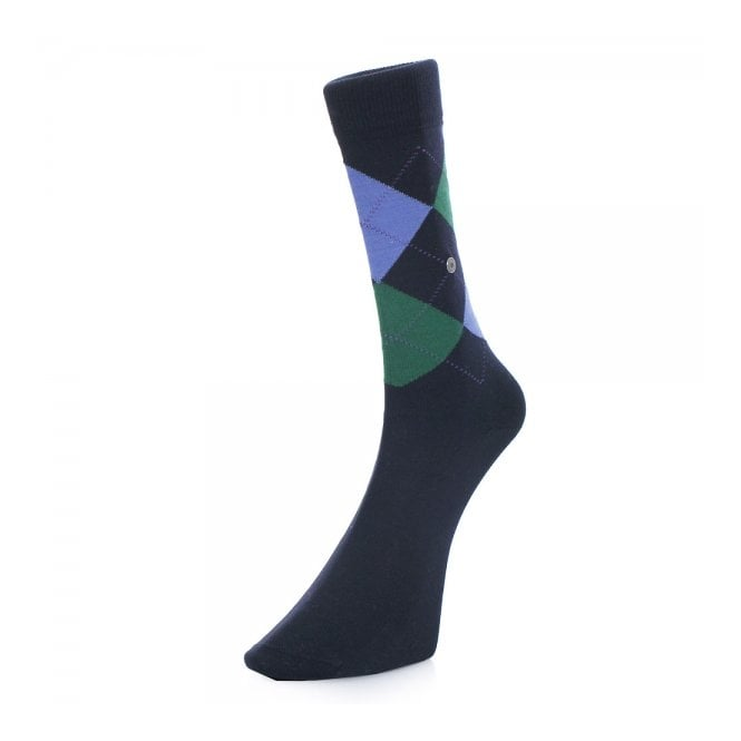 Burlington Socks Burlington Manchester Navy Argyle Socks 20182-6145