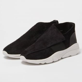 Casbia Vetta Reversed Buffalo Black Shoes 7503