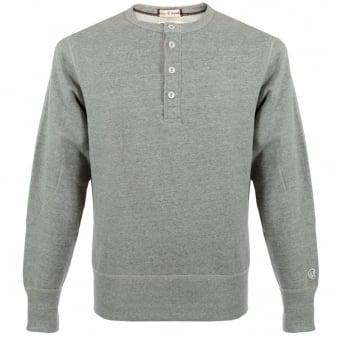 Champion Henley Sweatshirt Grey Heather D320F14 T002