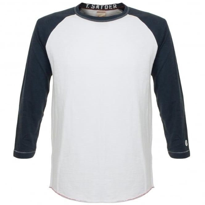 Champion X Todd Snyder Baseball White LS T-Shirt D166X66