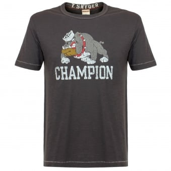 Champion X Todd Snyder Bulldog Pha Grey T-Shirt D021E66
