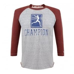 Champion X Todd Snyder Champion Grey Baseball T-Shirt D166B65