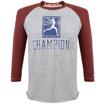 Champion X Todd Snyder Champion Grey Baseball T-Shirt D166B65