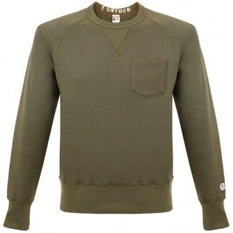 Champion X Todd Snyder Fleece Crew Neck Olive Sweatshirt D918X65