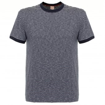 Champion X Todd Snyder Striped Navy T-shirt D449X66