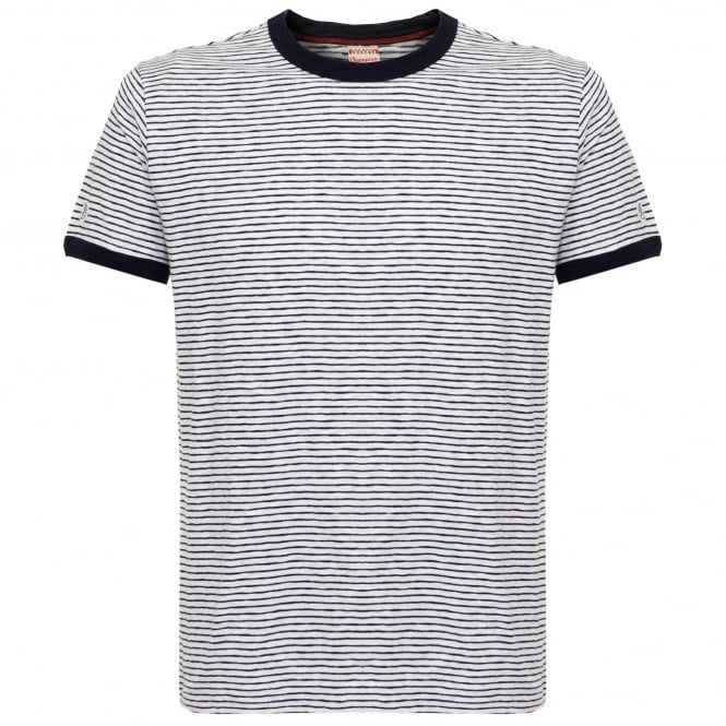 Champion X Todd Snyder Striped White T-shirt D449X66