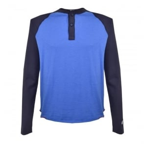 Champion X Todd Snyder Washed Blue Wave Henley t-shirt D532X16