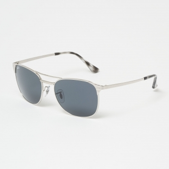 Chrome Signet Sunglasses - Blue/Gray Classic Lenses