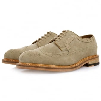Clarks Edward Style Brogue Taupe Shoes 261077