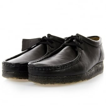 Clarks Originals Wallabee Black Leather Shoes 261037567060
