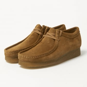 Clarks Originals Wallabee Cola Suede Shoes 16050