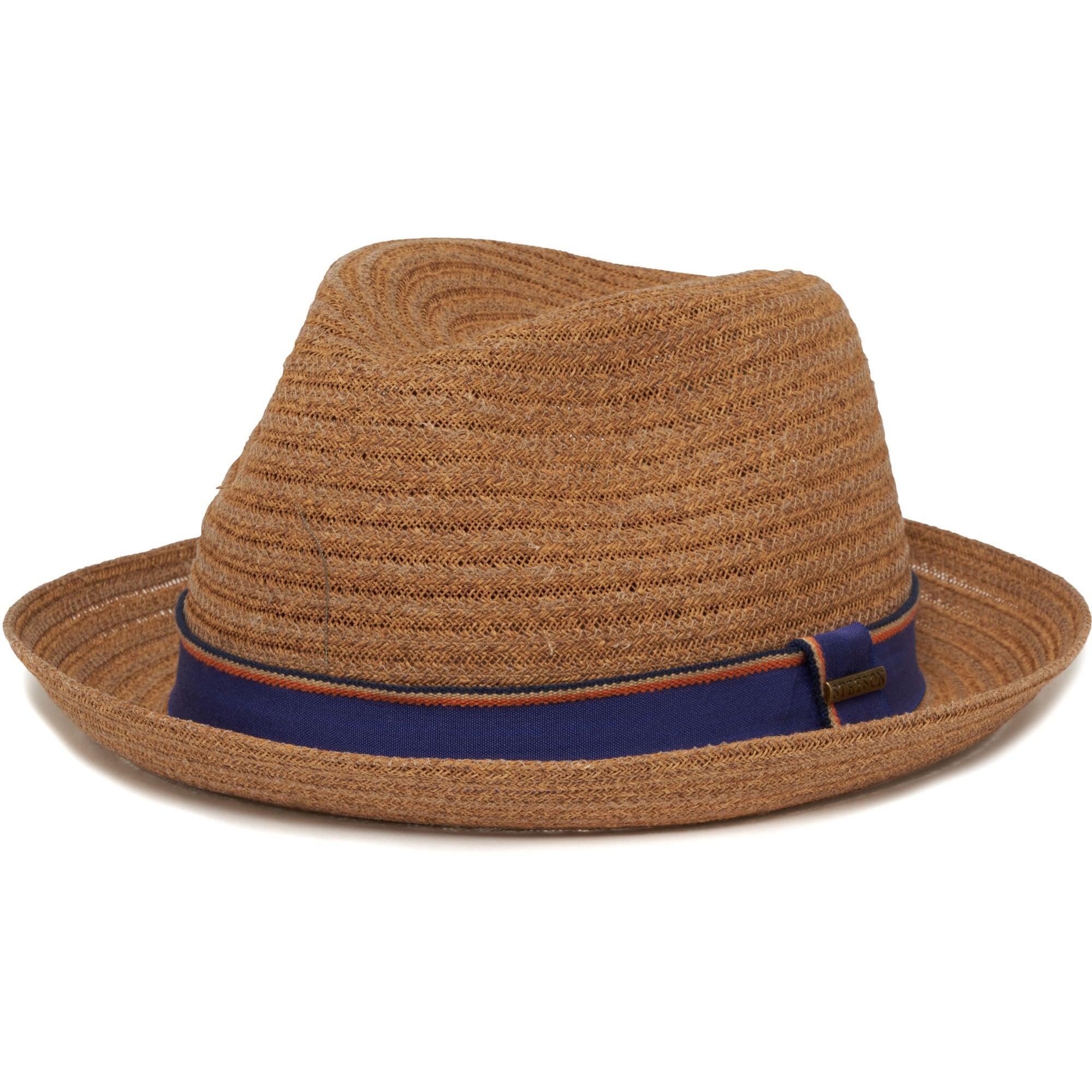 Stetson Brown Collano Diamond Player Toyo Straw Hat  750ce57fc48