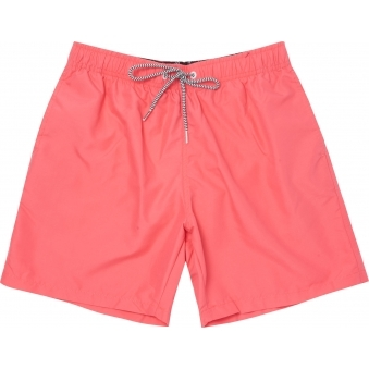 Coral Red Magic Fabric Swim Shorts
