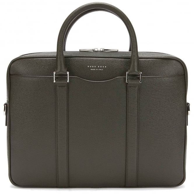 BOSS Signature Collection Dark Green Signature Briefcase