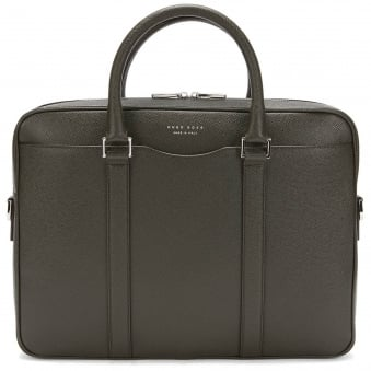Dark Green Signature Briefcase